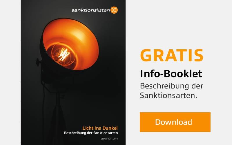 Gratis Info-Booklet: Beschreibung der Sanktionsarten mit Download Button