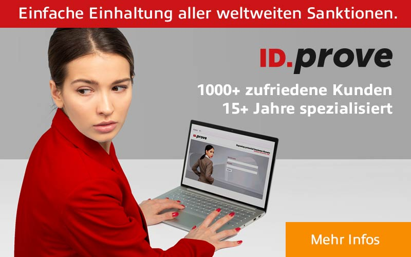 ID.prove. Einfache Einhaltung aller weltweiten Sanktionen.